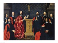 The Prevot des Marchands and the echevins of the city of Paris, 1648 Fine-Art Print