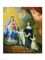 The Virgin Mary gives the Crown and Sceptre to Louis XIV, 1643 Fine-Art Print
