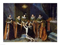 Louis XIII Receiving Henri d'Orleans Fine-Art Print