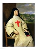 Mother Angelique Arnauld Abbess of Port-Royal, 1654 Fine-Art Print