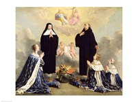 Anne of Austria and her Children at Prayer Fine-Art Print