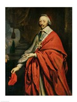 Portrait of Cardinal de Richelieu Fine-Art Print