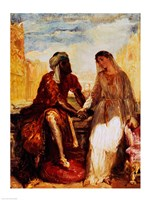 Othello and Desdemona in Venice, 1850 Fine-Art Print