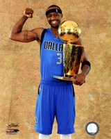 Jason Terry with the 2011 NBA Championship Trophy Game 6 of the 2011 NBA Finals Fine-Art Print