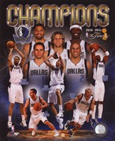 Dallas Mavericks 2011 NBA Finals Championship Composite Fine-Art Print
