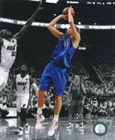 Dirk Nowitzki Game 1 of the 2011 NBA Finals Spotlight Action Fine-Art Print