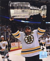 Patrice Bergeron with the Stanley Cup  Game 7 of the 2011 NHL Stanley Cup Finals(#45) Fine-Art Print