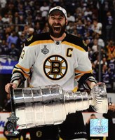 Zdeno Chara with the Stanley Cup  Game 7 of the 2011 NHL Stanley Cup Finals(#42) Fine-Art Print