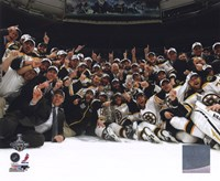 The Boston Bruins Celebrate Winning Game 7 of the 2011 NHL Stanley Cup Finals Fine-Art Print