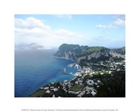 Aerial view of Capri Harbour Fine-Art Print