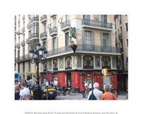 Barcelona Busy Street Fine-Art Print