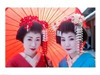 Geishas with Umbrellas Fine-Art Print