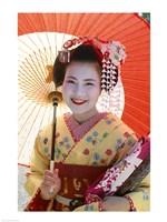 Young Geisha with Umbrella Fine-Art Print