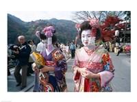Geishas, Kyoto, Honshu, Japan Fine-Art Print