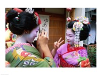 Geishas Photographing Each Other Fine-Art Print