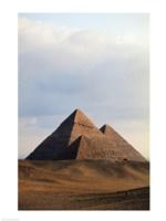 Pyramids on a landscape, Giza, Egypt Fine-Art Print