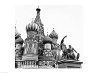 Monument of Minin and Pozharsky St. Basil's Cathedral Moscow Russia Fine-Art Print