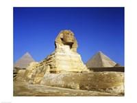 Great Sphinx and pyramids, Giza, Egypt Fine-Art Print