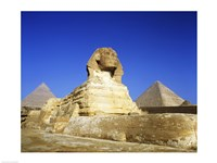 Great Sphinx and pyramids, Giza, Egypt Fine-Art Print