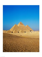 Giza Pyramids, Giza, Egypt (far away) Fine-Art Print