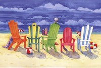 Brighton Chairs Fine-Art Print