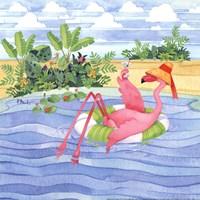 Martini Float Flamingo Fine-Art Print