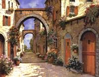 Le Porte Rosse Sulla Strada Fine-Art Print