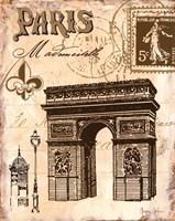Paris Collage II Framed Print