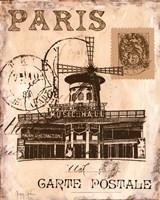 Paris Collage IV Framed Print