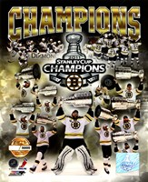 Boston Bruins 2011 NHL Stanley Cup Finals Champions Limited Edition PF Gold (5000 8x10's, 500 each enlargement size) Fine-Art Print