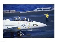 Grumman F-14 Tomcat Flight Deck USS Eisenhower Fine-Art Print