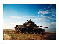 Solider in a military tank Fine-Art Print