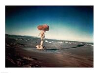 Atomic bomb testing in the desert Fine-Art Print