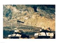 Missile approaching an M47 Tank Fine-Art Print