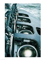 Close-up of a submarine missile silos Fine-Art Print