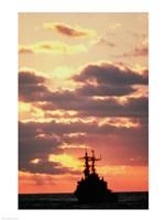 Silhouette of the USS Deyo Fine-Art Print