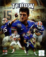 Tim Tebow University of Florida Gators Portrait Plus Fine-Art Print