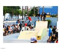 Pista de Skate em poa sao Paulo Brasil Fine-Art Print