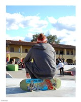 Skater In Florence On Board Fine-Art Print