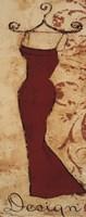 Red Fabric Design II Fine-Art Print