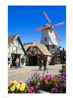 Windmill on Alisal Road, Solvang, Santa Barbara County, Central California, USA Fine-Art Print