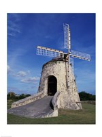 Windmill at the Whim Plantation Museum, Frederiksted, St. Croix Vertical Fine-Art Print