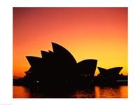 Sunrise over an opera house, Sydney Opera House, Sydney, Australia Fine-Art Print