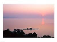 Sunrise view from Tihany, Tihany, Lake Balaton, Hungary Fine-Art Print