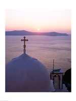 Sunrise, Santorini, Oia, Cyclades Islands, Greece Fine-Art Print