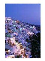 Night, Santorini, Thira (Fira), Cyclades Islands, Greece Fine-Art Print