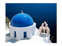 Santorini, Oia , Cyclades Islands, Greece Arial View Fine-Art Print