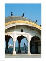 Taj Mahal seen through arches at Agra Fort, Agra, Uttar Pradesh, India Fine-Art Print