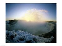 Sunrise over a waterfall, Niagara Falls, Ontario, Canada Fine-Art Print