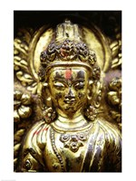 Close-up of a statue, Kathmandu, Nepal Fine-Art Print